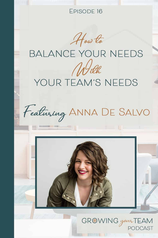 Anna De Salvo, Growing You Team Podcast, Jamie Van Cuyk, Small Business