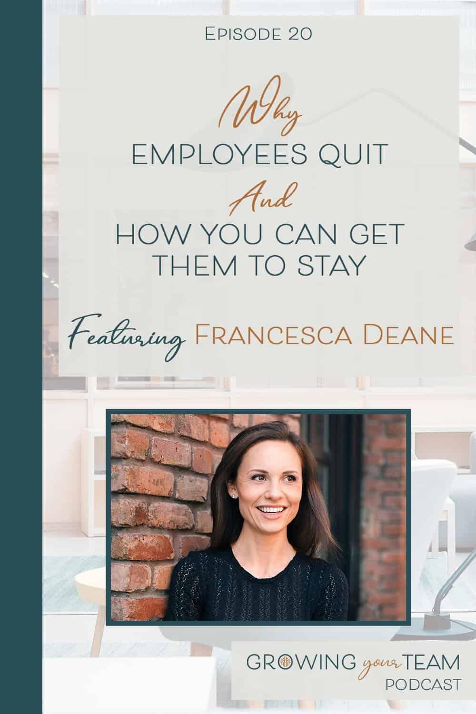 Francesca Deane, Growing You Team Podcast, Jamie Van Cuyk, Small Business