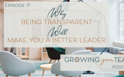 Ep17 – Why Being Transparent Will Make You a Better Leader