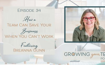 Ep34 – How a Team Can Save Your Business When You Can't Work with Breanna Gunn