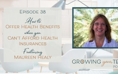 Ep38 – How to Offer Health Benefits When You Can't Afford Health Insurance with Maureen Healy