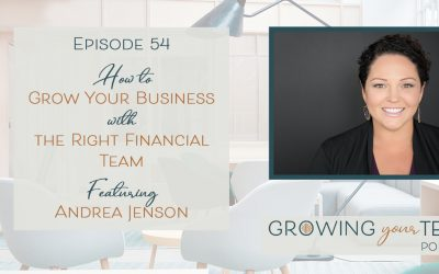 Ep54 – How to Grow Your Business with the Right Financial Team with Andrea Jenson