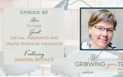 Ep62 – How to Hire Great VAs and OBMs with Sandra Booker