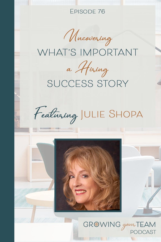 Julia Shopa, Growing You Team Podcast, Jamie Van Cuyk, Small Business