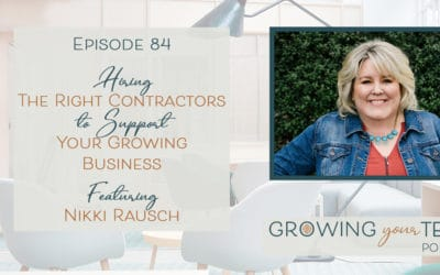 Ep84 – Hiring the Right Contractors to Support Your Business Nikki Rausch