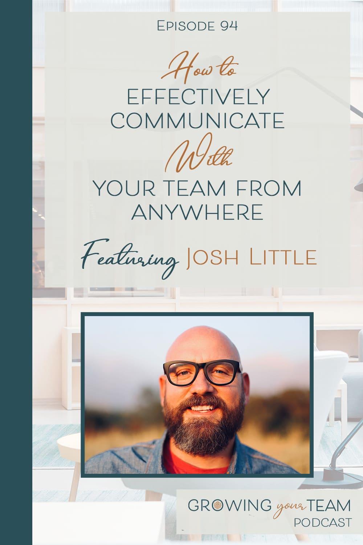 Josh Little, Growing Your Team Podcast, Jamie Van Cuyk, Small Business