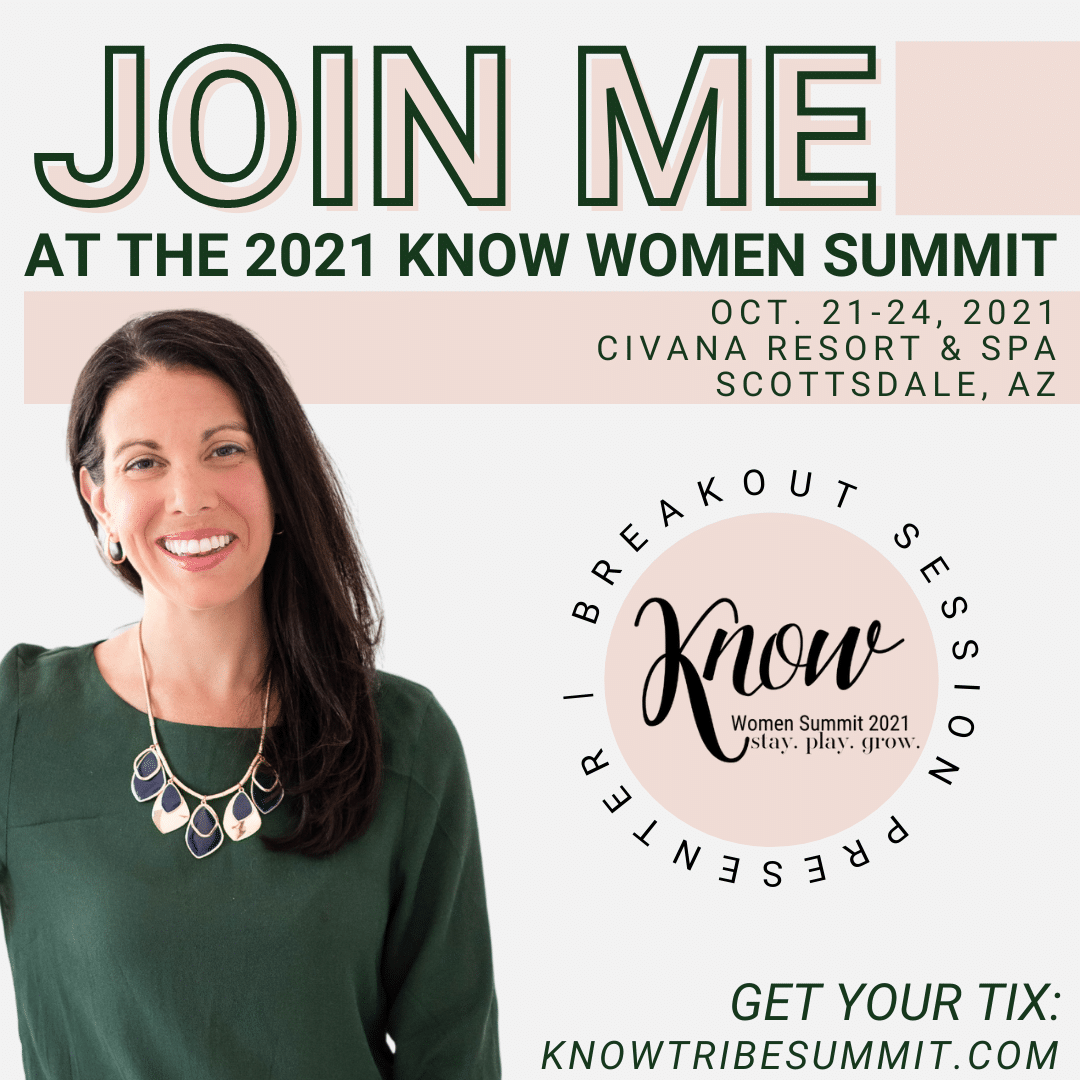 Join me at the 2021 KNOW Women Summit, Jamie Van Cuyk